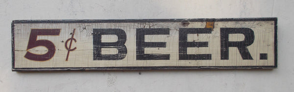5 cent Beer sign