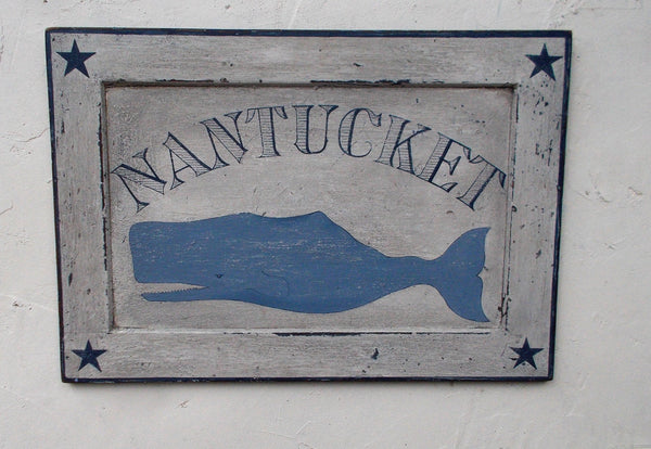 Nantucket Whale sign