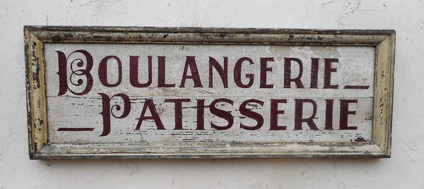 Boulangerie-Patisserie French bakery sign
