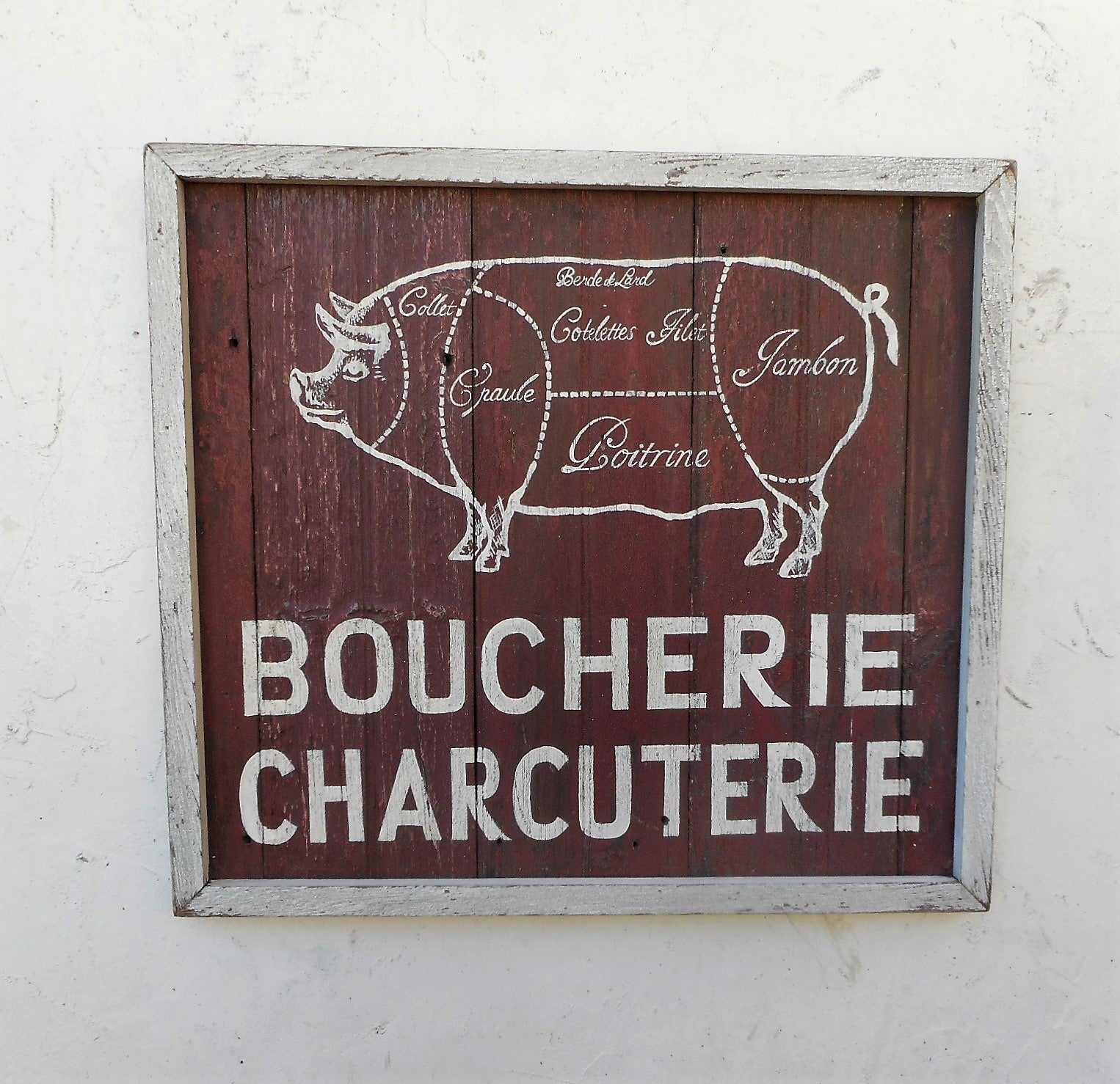 French Butcher sign