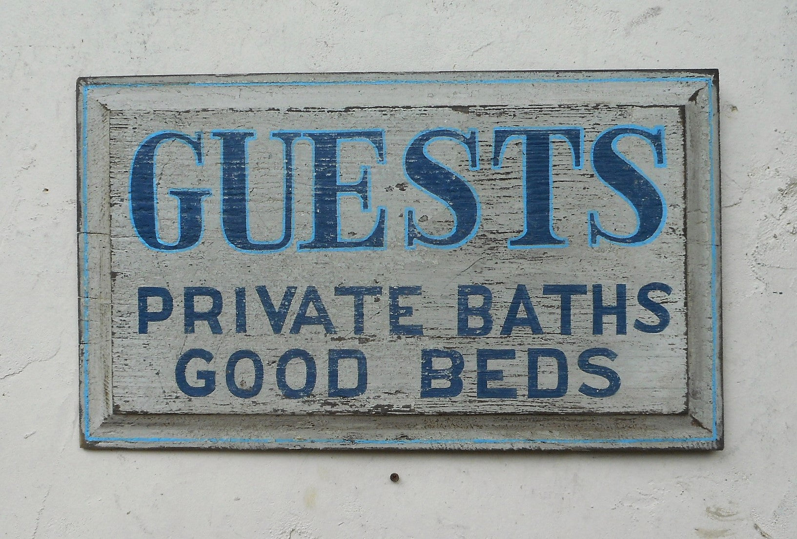 Guests -Private Baths Good Beds