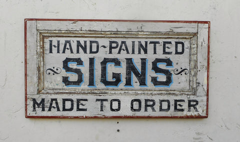 Hand-Painted Signs Made to Order