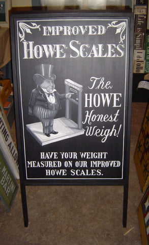 Howe's Scale Sign Board
