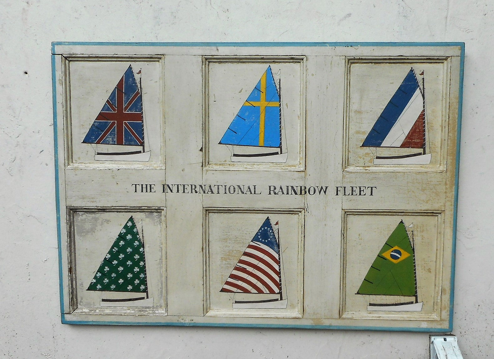 Rainbow Fleet on Antique Door