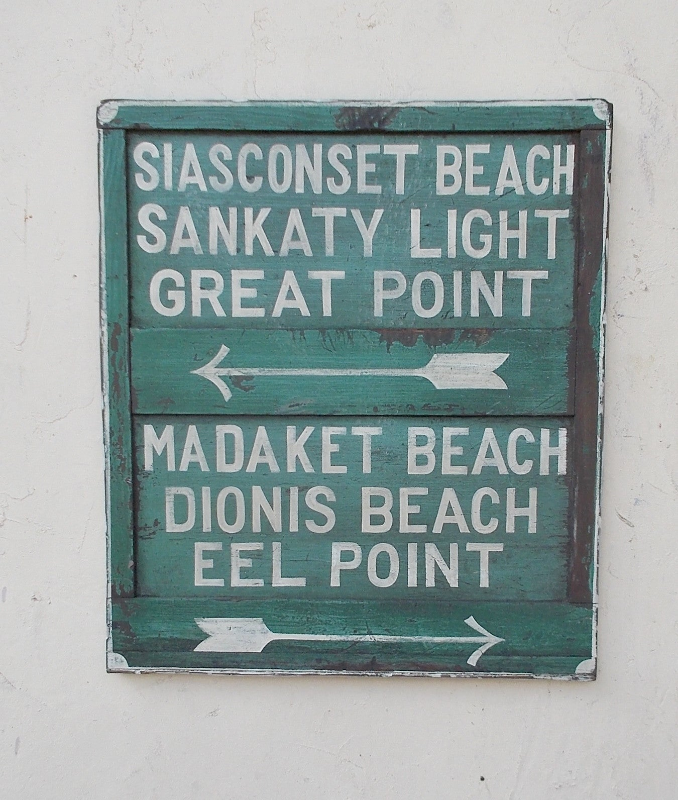 Nantucket Beaches sign