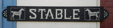 Stable- Livery Boarding sign