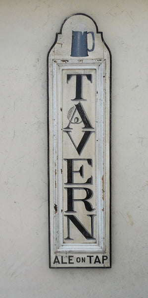 "Vertical ""TAVERN"" sign"