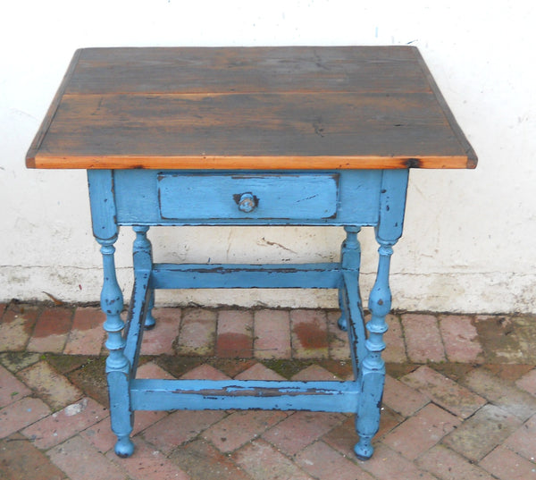 Tavern Side Table in Blue