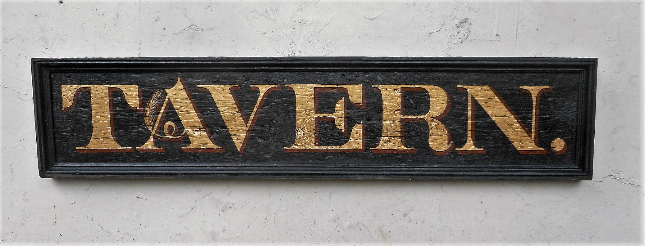 """Tavern""  sign in black"