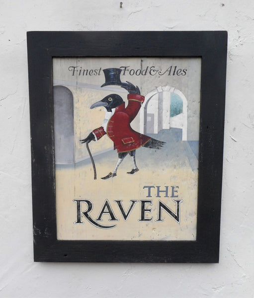 The Raven pub sign