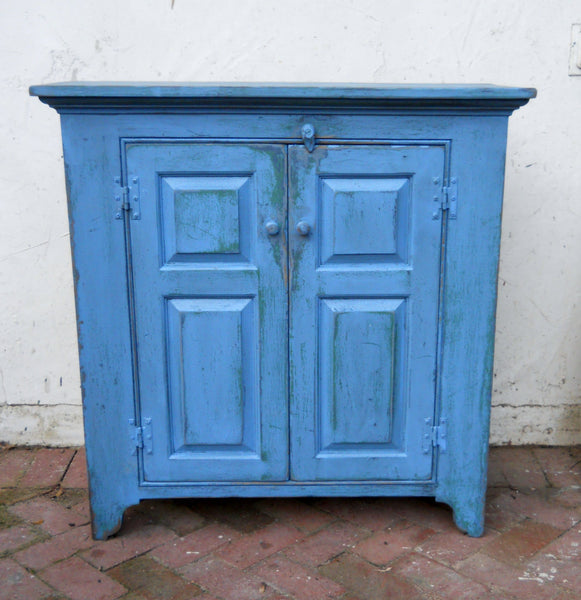 Two Door Jelly Cupboard in Blue