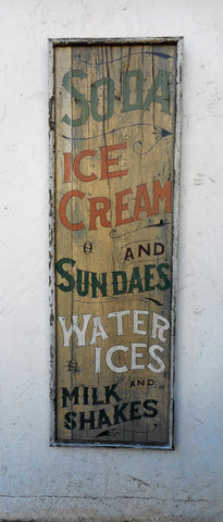 Soda-Ice Cream sign
