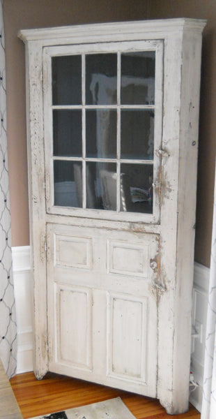 White Antique Cupboard
