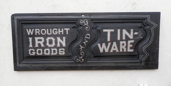 Wrought Iron Goods and Tin-Ware