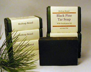 Black Pine Tar Soap with Eucalyptus Essential Oil