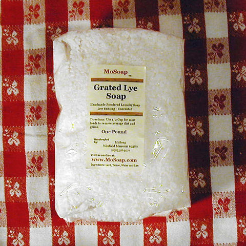 Grated lye soap for laundry DIY laundry soap