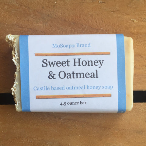 Sweet Honey and Oatmeal Soap