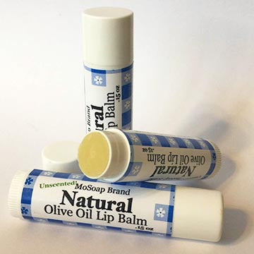 Plain and Natural Olive Oil Lip Balm by MoSoap