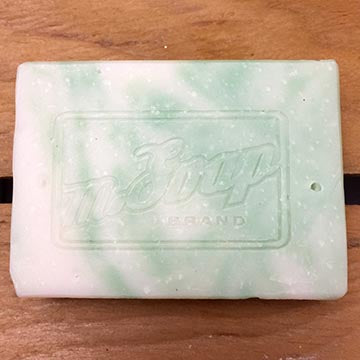 Refreshing peppermint and spearmint lye soap