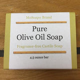 Natural unscented olive oil castile soap