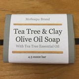 Castile Olive Oil Soap made with tea tree and clay