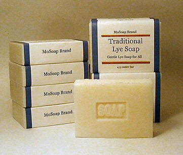 Gentle traditional lye lard soap