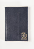 '1865' Aspinal of London A5 Navy Refillable Lizard Print Leather Journal