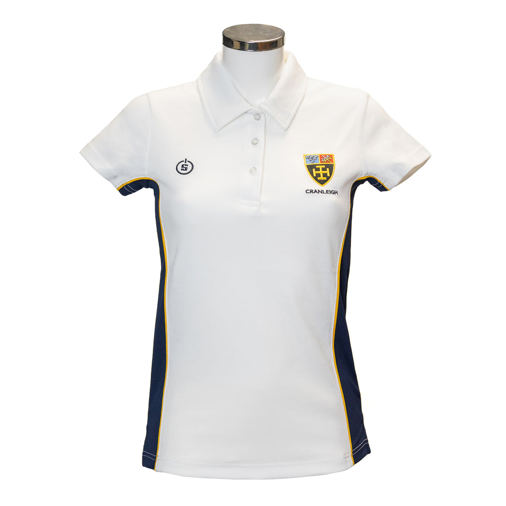 CS Girls White Multi Sport Polo Shirt