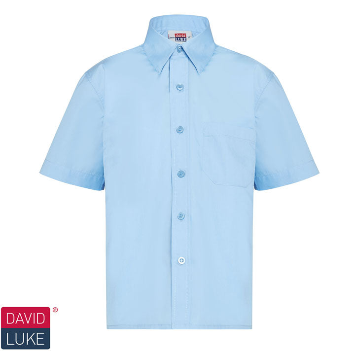 CPS Boys Blue Short Sleeve Shirt (2 per pack)