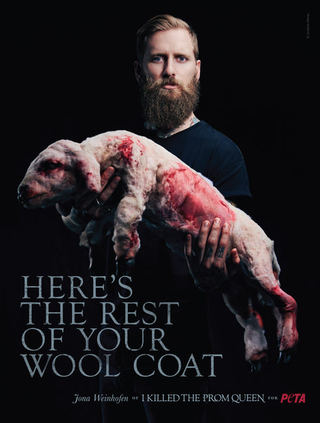 Jona Weinhofen featured in controversial PETA Australia adverts