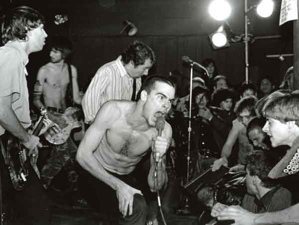 Henry Rollins with Black Flag