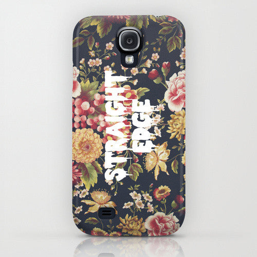 Straight Edge Floral Phone Case