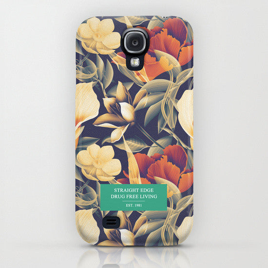 Straight Edge phone case in freen floral print by STRAIGHTEDGEWORLDWIDE