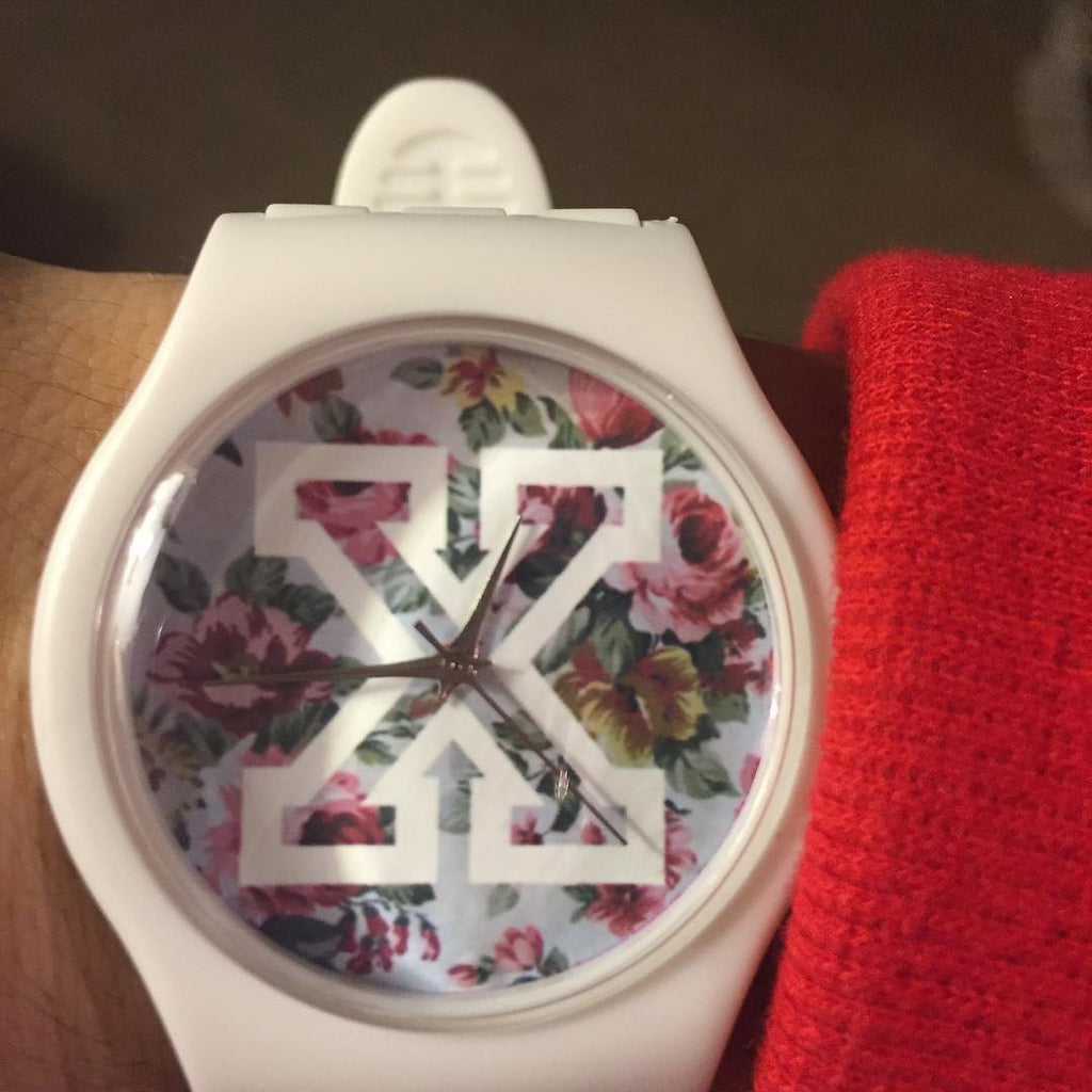 White straight edge watch