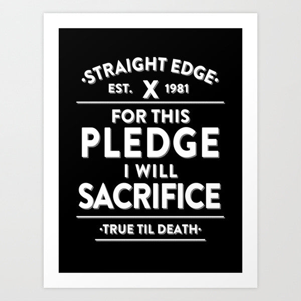 straight edge art print