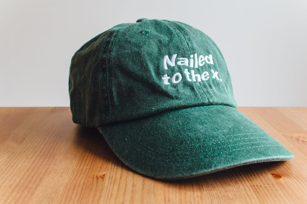 df2e1be59c82b Nailed to the X Straight Edge drug free strapback dad hat in forest green  by STRAIGHTEDGEWORLDWIDE