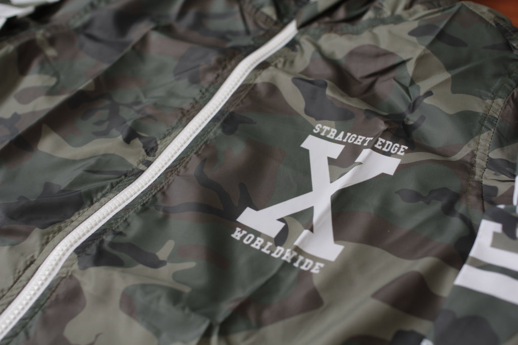 Woodland Camo Windbreaker