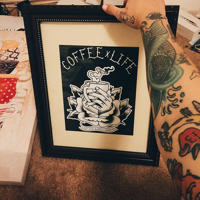 Coffee life art print