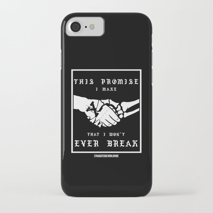 Straight Edge phone case in black by STRAIGHTEDGEWORLDWIDE