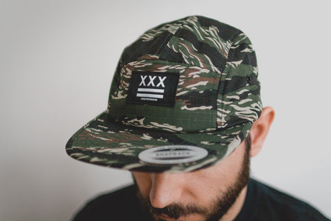 Straight edge 5-panel hat