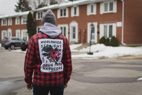 Straight Edge plaid windbreaker jacket by STRAIGHTEDGEWORLDWIDE