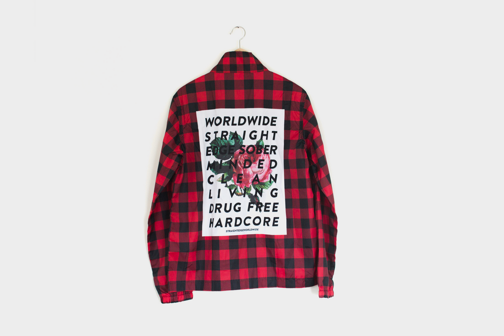 Backpatch Flannel Coaches Jacket