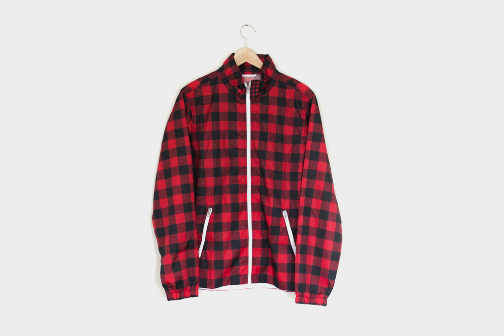 Ladies Backpatch Flannel Coaches Jacket