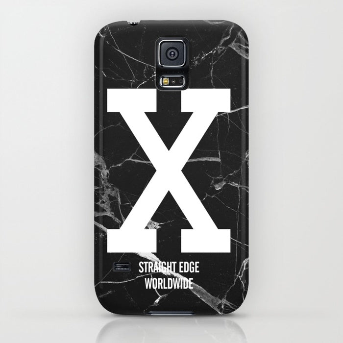 Black Marble Straight Edge Phone Case