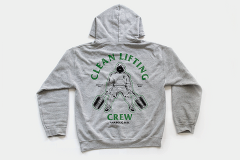 Clean Lifting Crew Anabolic Free Straight Edge Drug Free hoodie by STRAIGHTEDGEWORLDWIDE