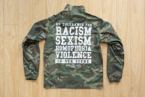 Anti Racist Camo Straight Edge Jacket