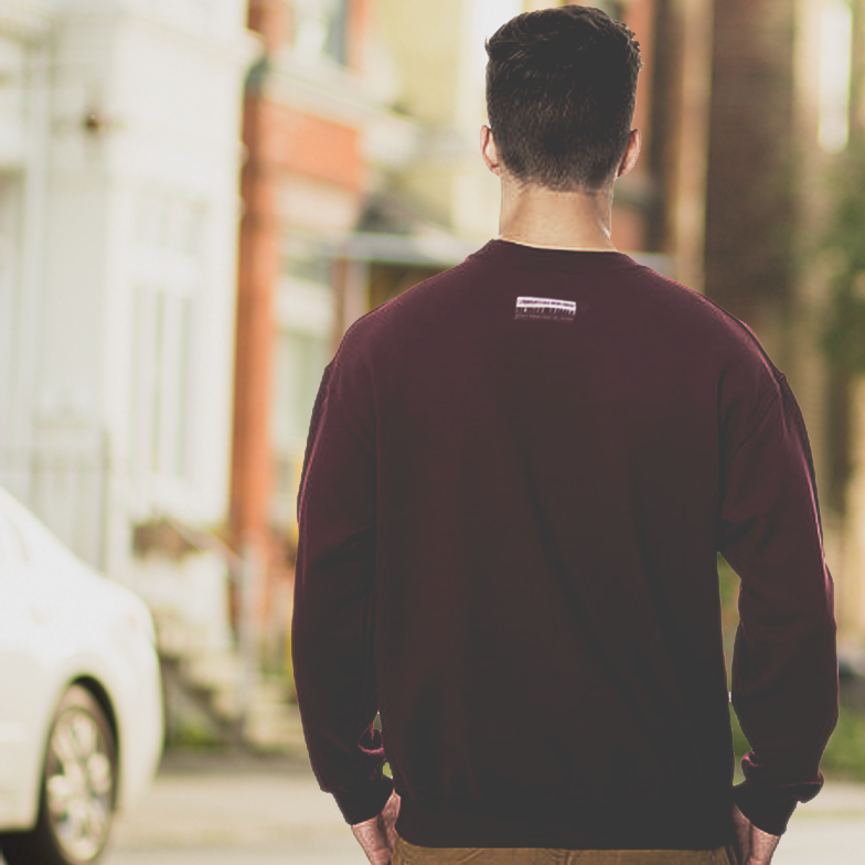 Drug Free Youth Crewneck in Maroon