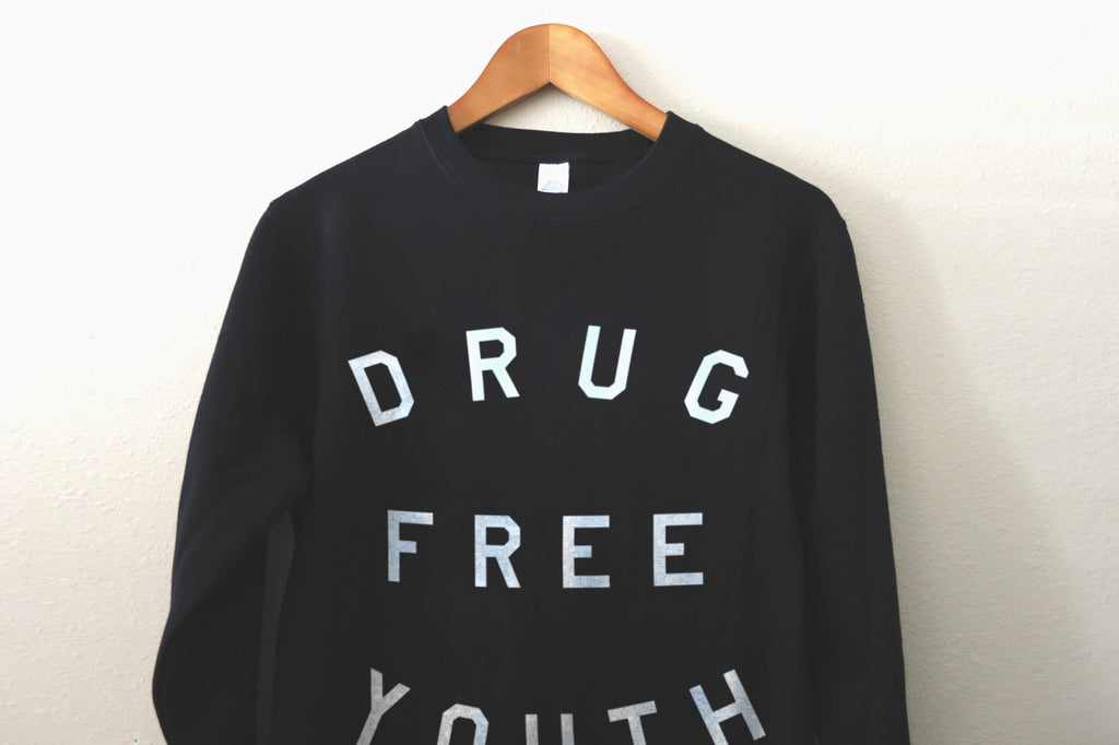 Drug Free Youth Crewneck in Black