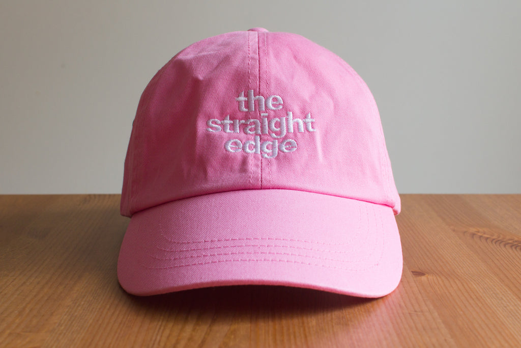 cc1dc65cd8faa ... drug free strapback dad hat in pink by STRAIGHTEDGEWORLDWIDE. The Straight  Edge Dad Hat in Pink