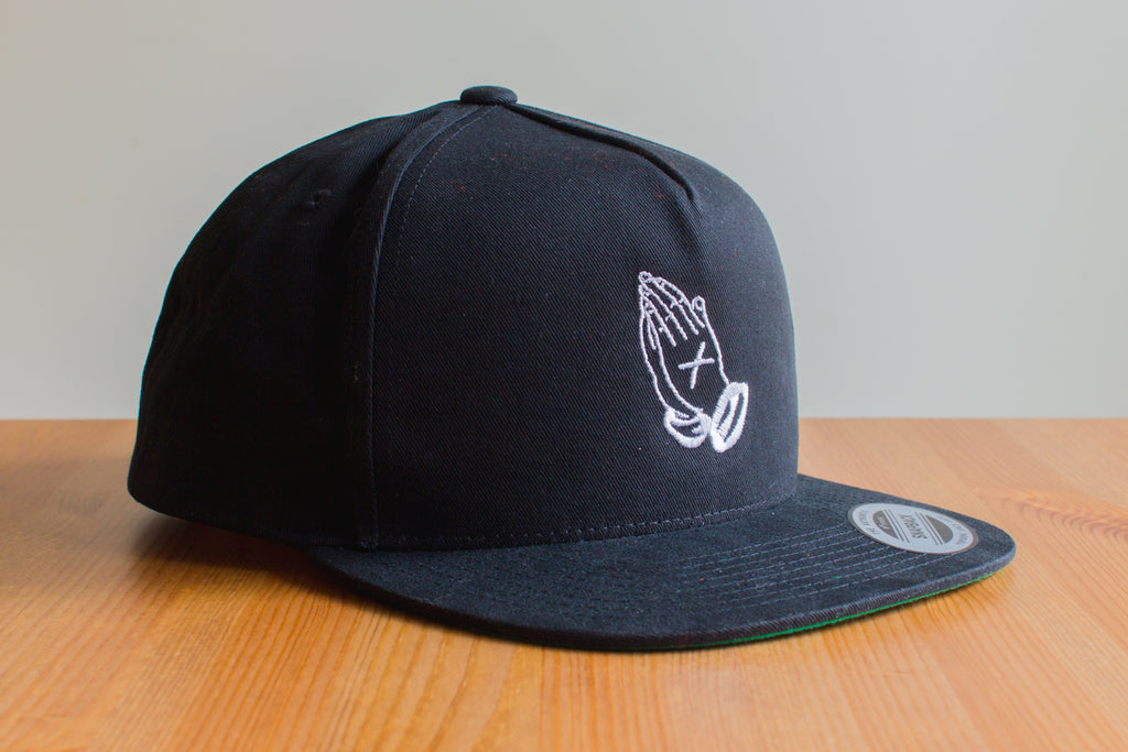 Straight Edge drug free snapback in black by STRAIGHTEDGEWORLDWIDE